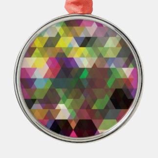Wellcoda Polygon Colour Shape Crazy Pattern Christmas Ornament