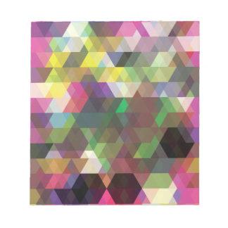 Wellcoda Polygon Colour Shape Crazy Pattern Notepad