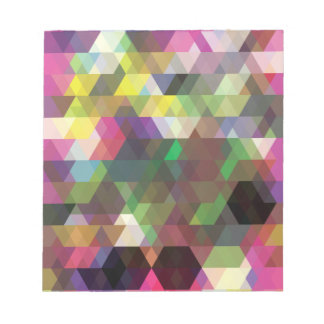 Wellcoda Polygon Colour Shape Crazy Pattern Notepads