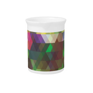 Wellcoda Polygon Colour Shape Crazy Pattern Pitcher
