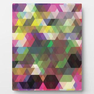 Wellcoda Polygon Colour Shape Crazy Pattern Plaque