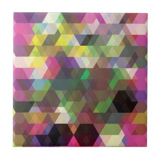 Wellcoda Polygon Colour Shape Crazy Pattern Tile