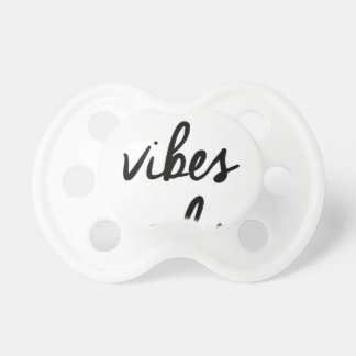 Wellcoda Positive Vibes Only UK Positivity Baby Pacifier