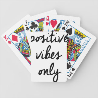 Wellcoda Positive Vibes Only UK Positivity Bicycle Playing Cards