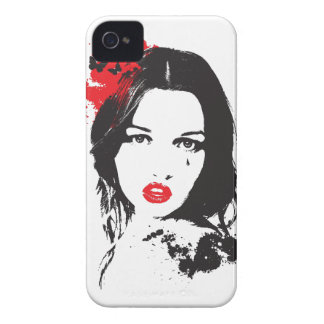 Wellcoda Pretty Face Beauty Elegant Style iPhone 4 Case-Mate Case