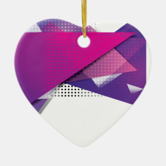 Wellcoda Purple Triangle Print Trend Set Christmas Ornament