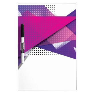 Wellcoda Purple Triangle Print Trend Set Dry Erase Board