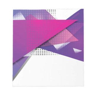 Wellcoda Purple Triangle Print Trend Set Notepads
