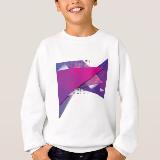 Wellcoda Purple Triangle Print Trend Set Sweatshirt