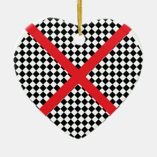 Wellcoda Red Cross Pattern Vote Flag Flyer Christmas Ornament