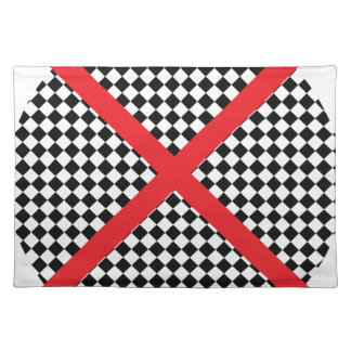 Wellcoda Red Cross Pattern Vote Flag Flyer Place Mats