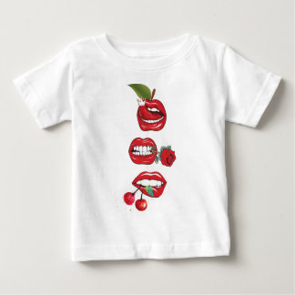 Wellcoda Red Lip Cherry Kiss Rock&Roll Baby T-Shirt