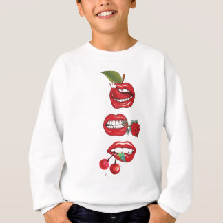 Wellcoda Red Lip Cherry Kiss Rock&Roll Sweatshirt