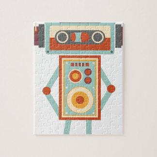Wellcoda Robot Music Tape Dj Headphones Puzzle