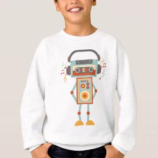 Wellcoda Robot Music Tape Dj Headphones Sweatshirt