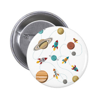 Wellcoda Rocket Space Landing Moon Wars 6 Cm Round Badge