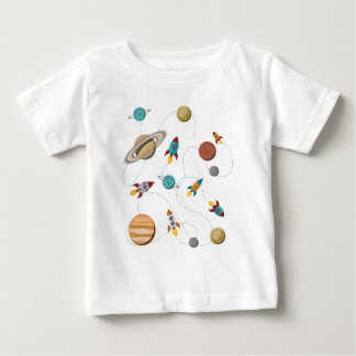 Wellcoda Rocket Space Landing Moon Wars Baby T-Shirt
