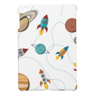 Wellcoda Rocket Space Landing Moon Wars Cover For The iPad Mini