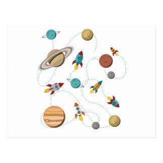 Wellcoda Rocket Space Landing Moon Wars Postcard
