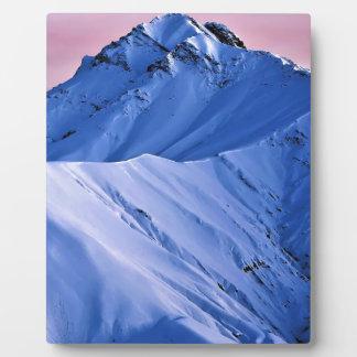 Wellcoda Rocky Mountain Peaks Snow Rock Plaque