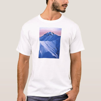 Wellcoda Rocky Mountain Peaks Snow Rock T-Shirt