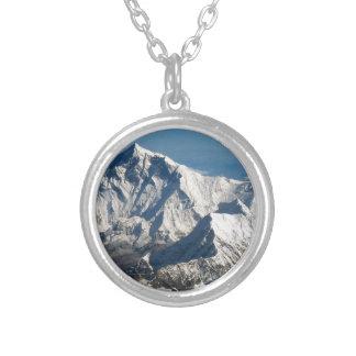 Wellcoda Rocky Mountain Range Snow Rock Silver Plated Necklace