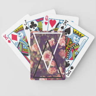 Wellcoda Romantic Rose Triangle Love Shape Bicycle Playing Cards