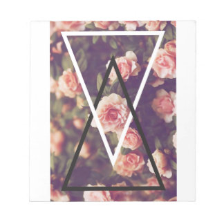 Wellcoda Romantic Rose Triangle Love Shape Notepad