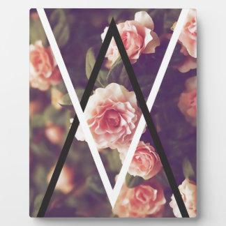 Wellcoda Romantic Rose Triangle Love Shape Plaque