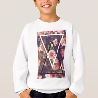 Wellcoda Romantic Rose Triangle Love Shape Sweatshirt