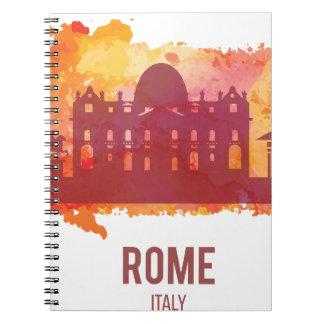 Wellcoda Rome Italy Capital City Sight Spiral Notebook