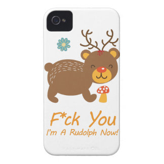 Wellcoda Rudolf Bear Animal Wild Reindeer iPhone 4 Cover