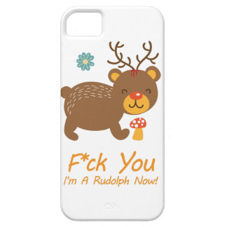 Wellcoda Rudolf Bear Animal Wild Reindeer iPhone 5 Case
