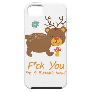 Wellcoda Rudolf Bear Animal Wild Reindeer Tough iPhone 5 Case
