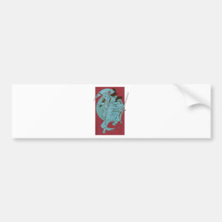 Wellcoda Samurai Fighter Anime Warrior Bumper Sticker