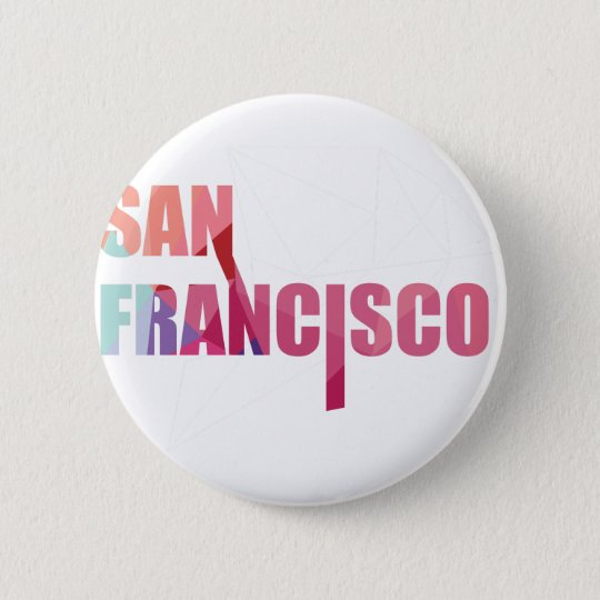 Wellcoda San Francisco City USA California Golden 6 Cm Round Badge
