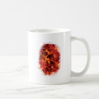 Wellcoda Scary Skull On Fire Hell Creepy Coffee Mug
