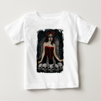Wellcoda Scary Skull Sexy Girl Demon Evil Baby T-Shirt