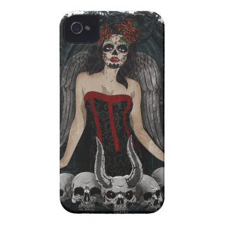 Wellcoda Scary Skull Sexy Girl Demon Evil Case-Mate iPhone 4 Cases
