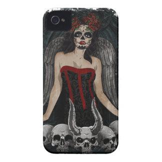 Wellcoda Scary Skull Sexy Girl Demon Evil iPhone 4 Case