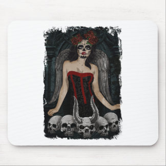Wellcoda Scary Skull Sexy Girl Demon Evil Mouse Mat