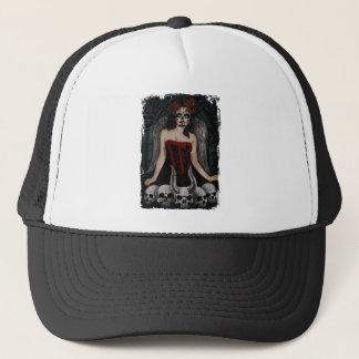 Wellcoda Scary Skull Sexy Girl Demon Evil Trucker Hat