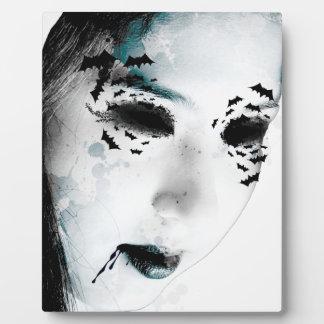 Wellcoda Scary Vampire Monster Villain Plaque