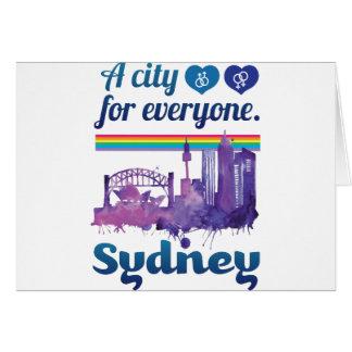 Wellcoda Sidney City Friendly Peaceful Greeting Card
