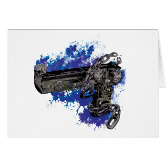 Wellcoda Skeleton Revolver Pistol Chain Card