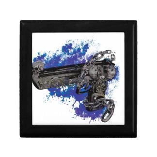 Wellcoda Skeleton Revolver Pistol Chain Gift Box