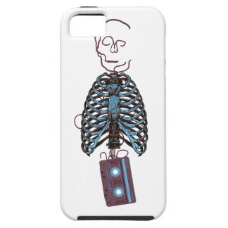 Wellcoda Skeleton Tape Music Retro Sound iPhone 5 Case