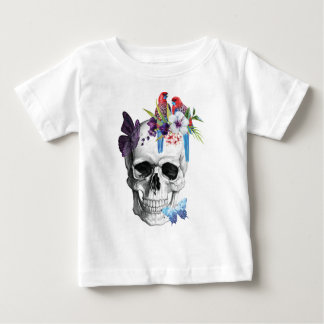 Wellcoda Skull Death Paradise Bad Tropical Baby T-Shirt