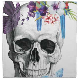 Wellcoda Skull Death Paradise Bad Tropical Napkin