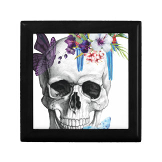 Wellcoda Skull Death Paradise Bad Tropical Small Square Gift Box